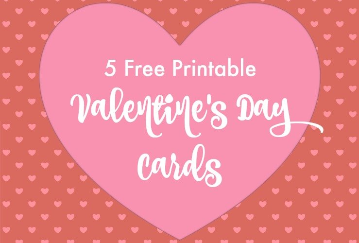 5 Free Printable Valentines Day Cards for Kids NonCandy Treat – Valentines Day Cards Free Printable