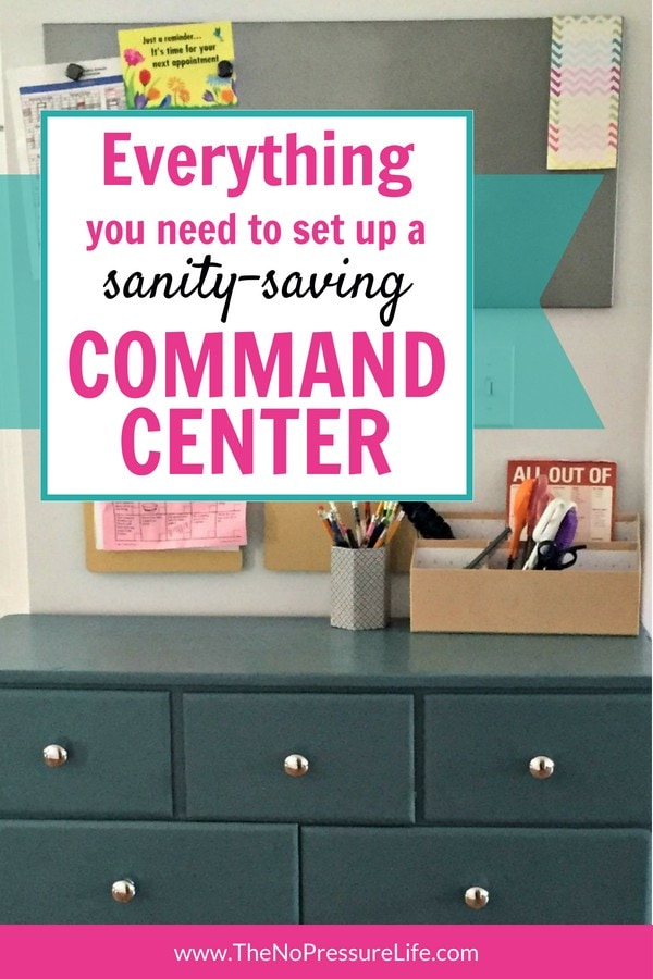 DIY simple command center for back to school organization