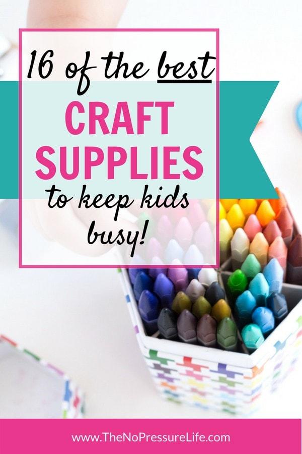 best craft supplies for kids