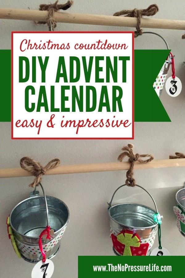DIY advent calendar for kids - Christmas countdown calendar