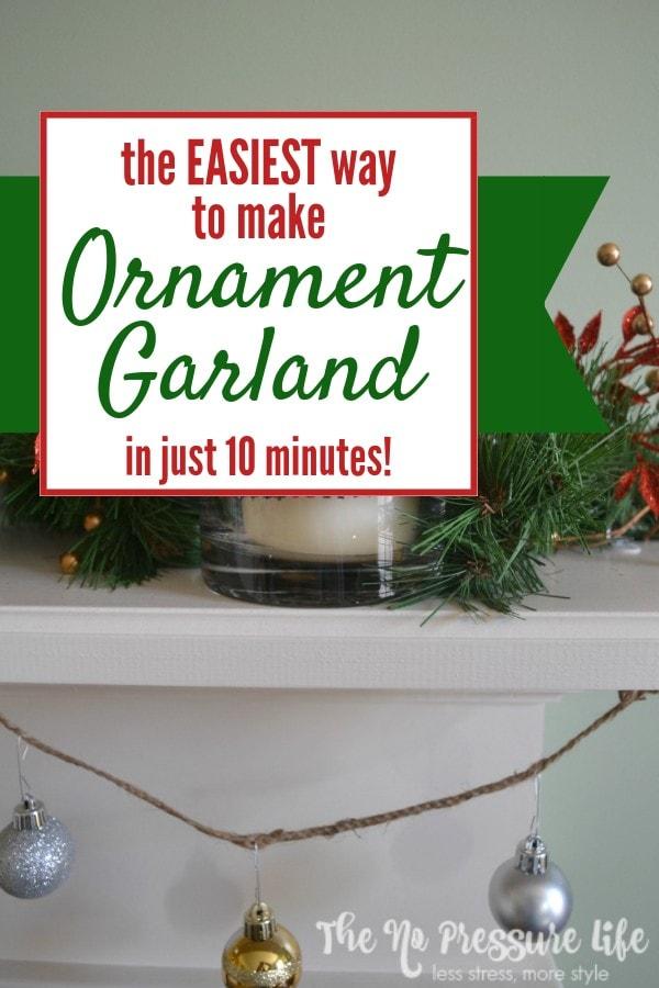 How to make DIY ornament garland for Christmas