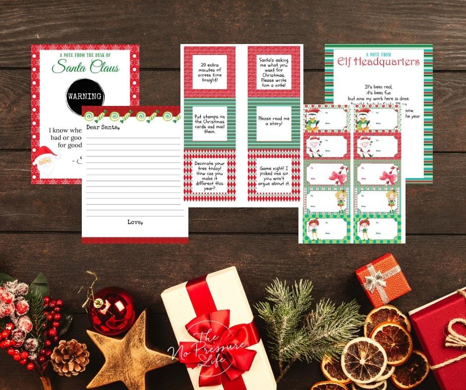 Elf on the Shelf printable pack - printable Elf on the Shelf ideas