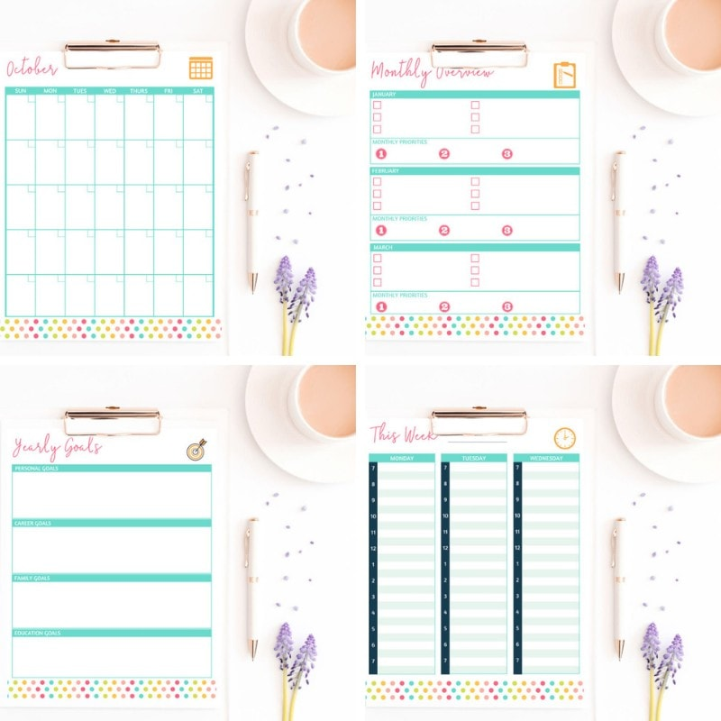 Get it Done Planner - Printable Calendar Pages