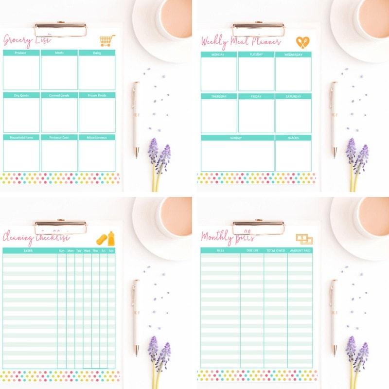 Get it Done Planner - Printable Organization Worksheets