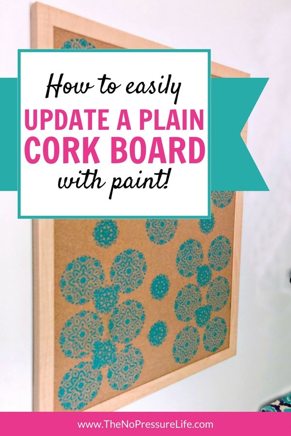 How to make a DIY stenciled cork board