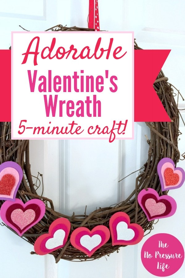 Valentine's Day grapevine wreath DIY tutorial