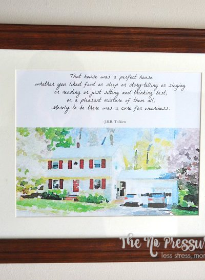 DIY Art Quote About Home