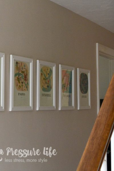 Cheap Art for Blank Walls - use old calendars! Get product ideas at thenopressurelife.com