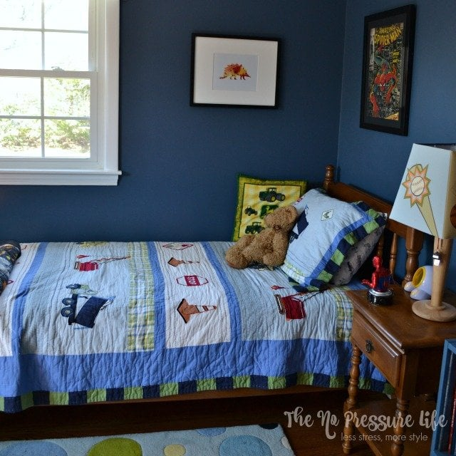 before after an eclectic boy 39 s bedroom makeover with meaning. Black Bedroom Furniture Sets. Home Design Ideas