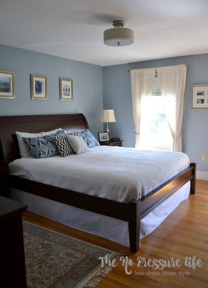 Santorini Blue Bedroom - The No Pressure Life