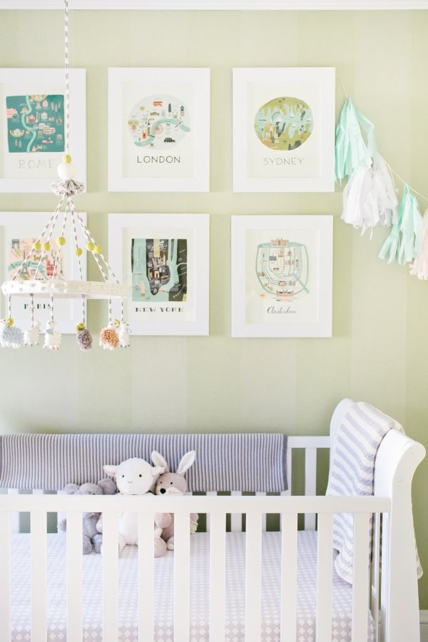 calendar wall art in nursery - Style Me Pretty