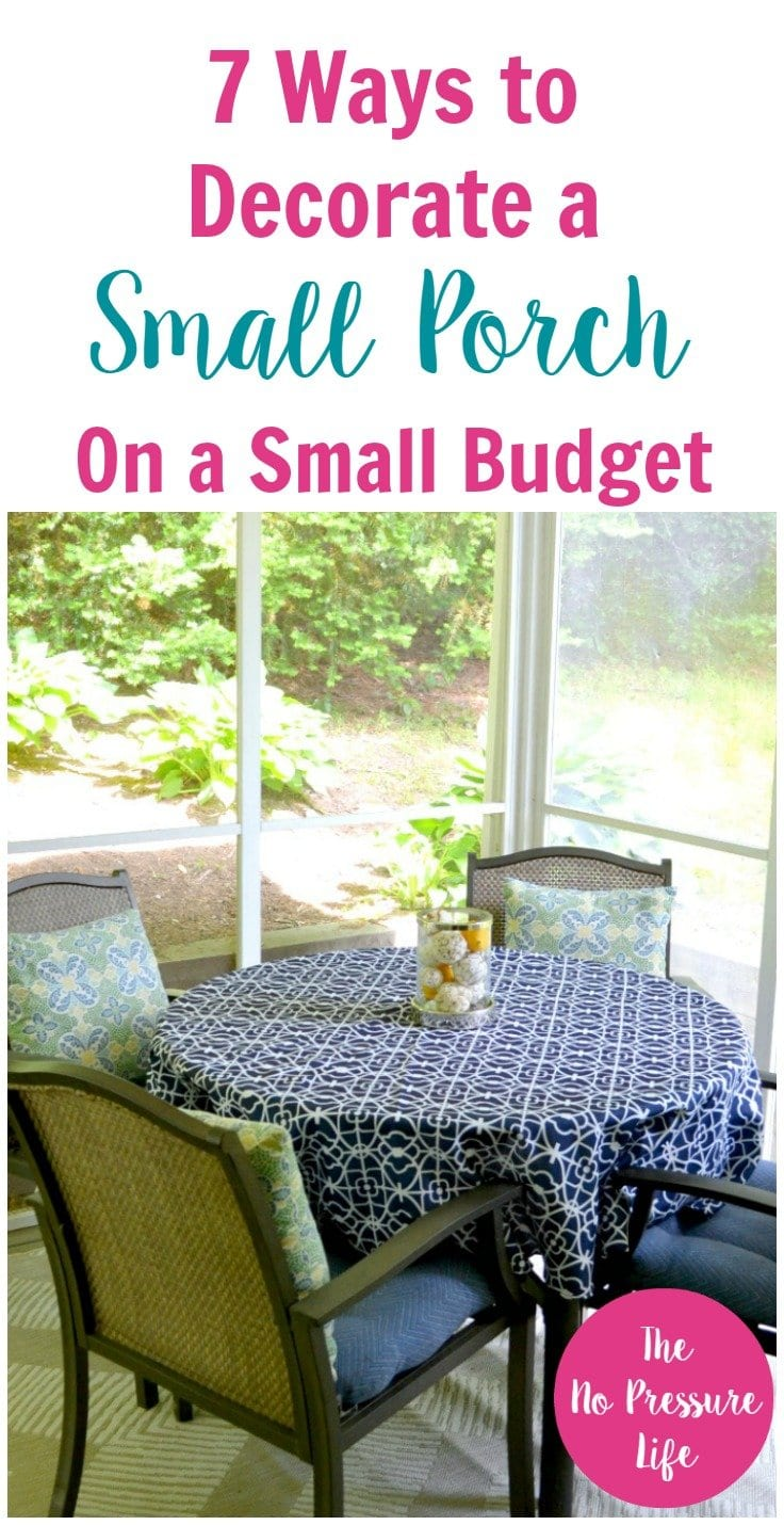 How to decorate a small porch on a budget