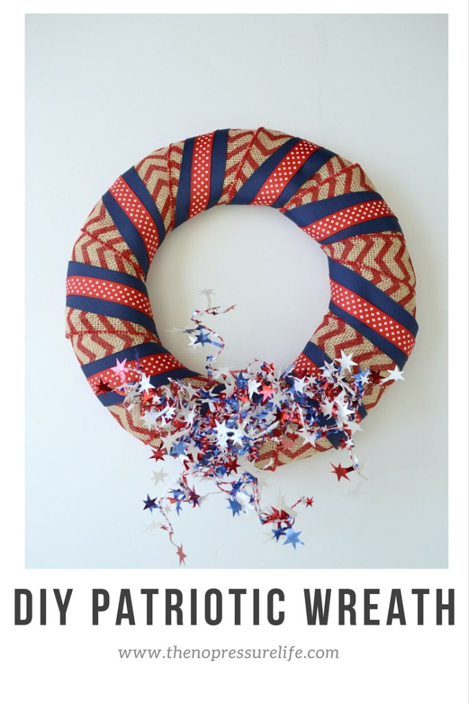 This easy DIY patriotic wreath is a simple 4th of July craft.