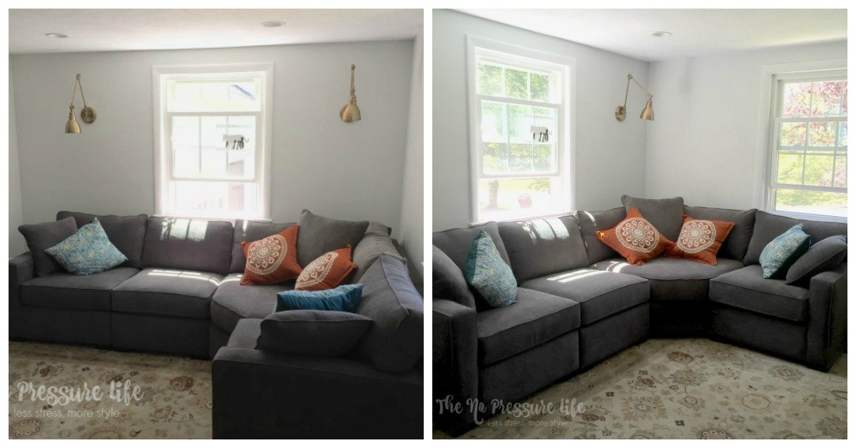How to decorate above a corner sectional sofa 3 simple - How to decorate a corner ...