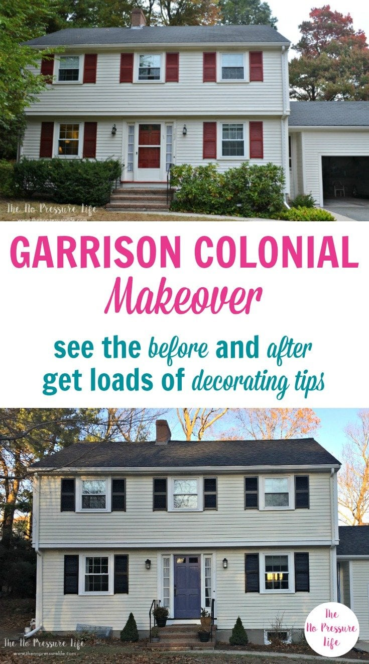 Garrison colonial makeover how we transformed our 1960 39 s classic for Colonial house exterior renovation ideas