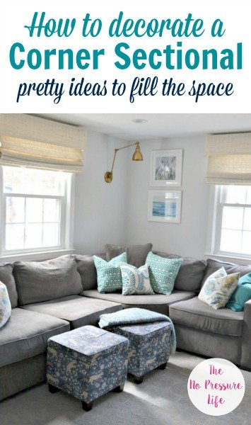 How To Decorate Above A Corner Sectional Sofa 3 Simple