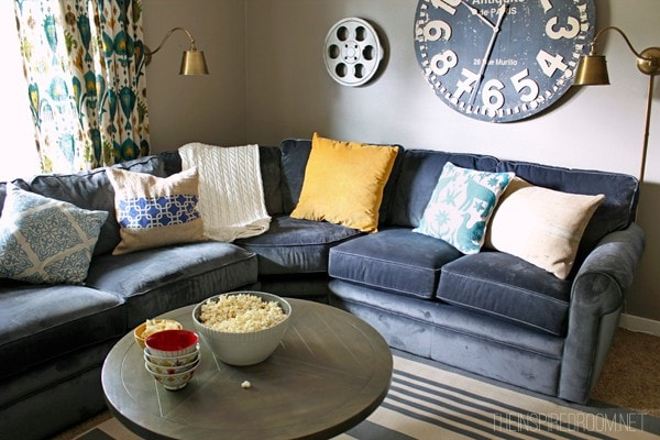 Corner Sectional with large-scale art by The Inspired Room