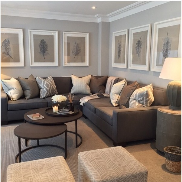 Corner sectional with large art, design by Sophie Paterson, photo by Ray Main
