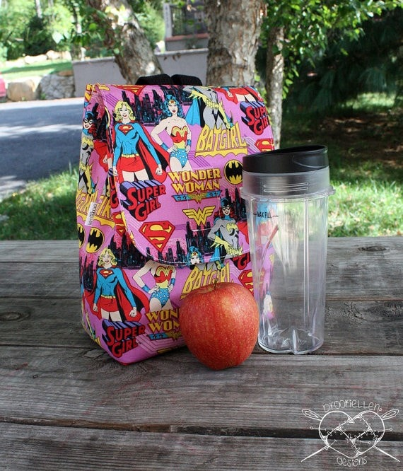 Handmade Wonder Woman Lunch Bag - Brooki Ellen Designs on Etsy