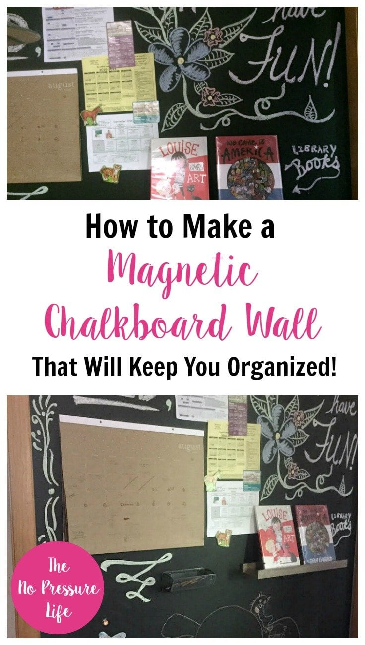 How to make a magnetic chalkboard wall