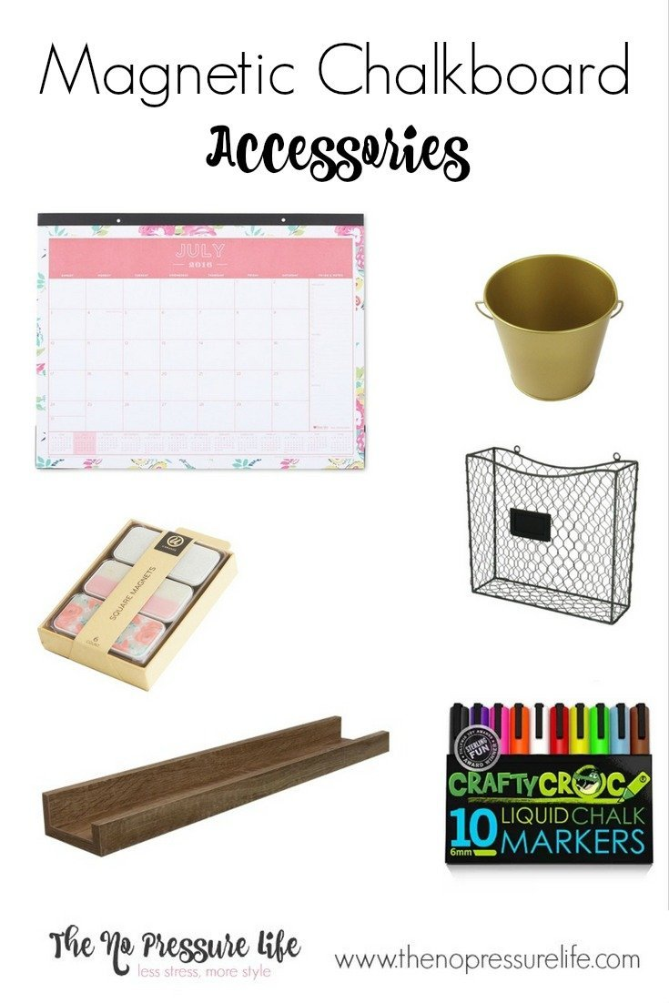 Accessories to use on a magnetic chalkboard wall