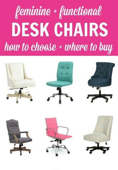 22 Functional Feminine Desk Chairs, Feminine Desk Chair