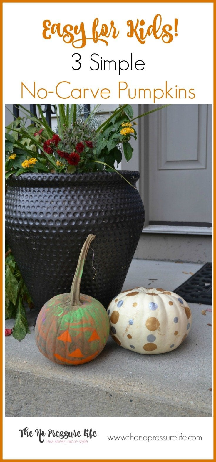 no-carve pumpkin decorating ideas for kids are so fast