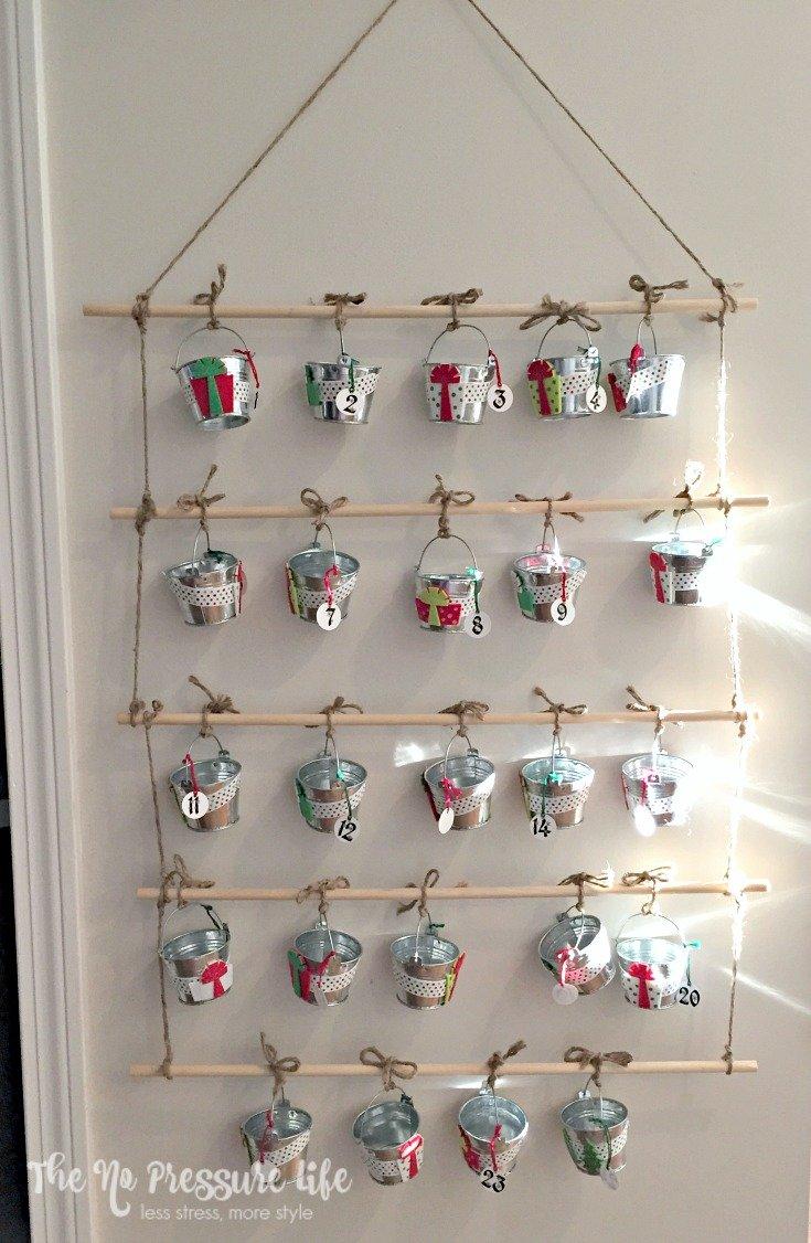 Easy DIY advent calendar for Christmas