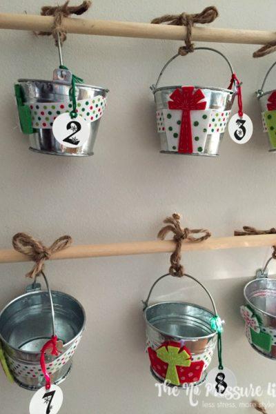 large hanging DIY advent calendar for Christmas