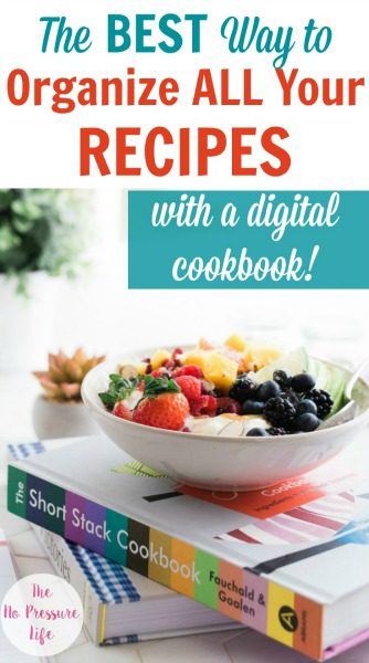 How to organize recipes with a digital cookbook