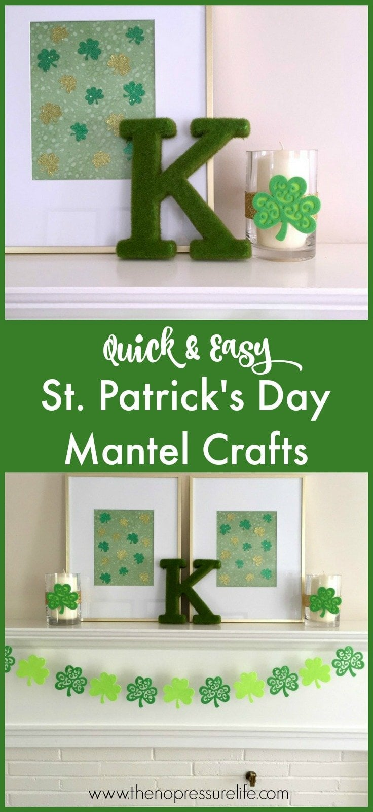 These DIY St. Patrick's Day mantel decorations are so cute