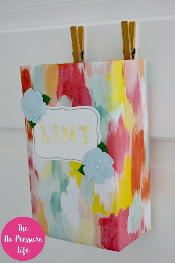 DIY laundry room lint bin