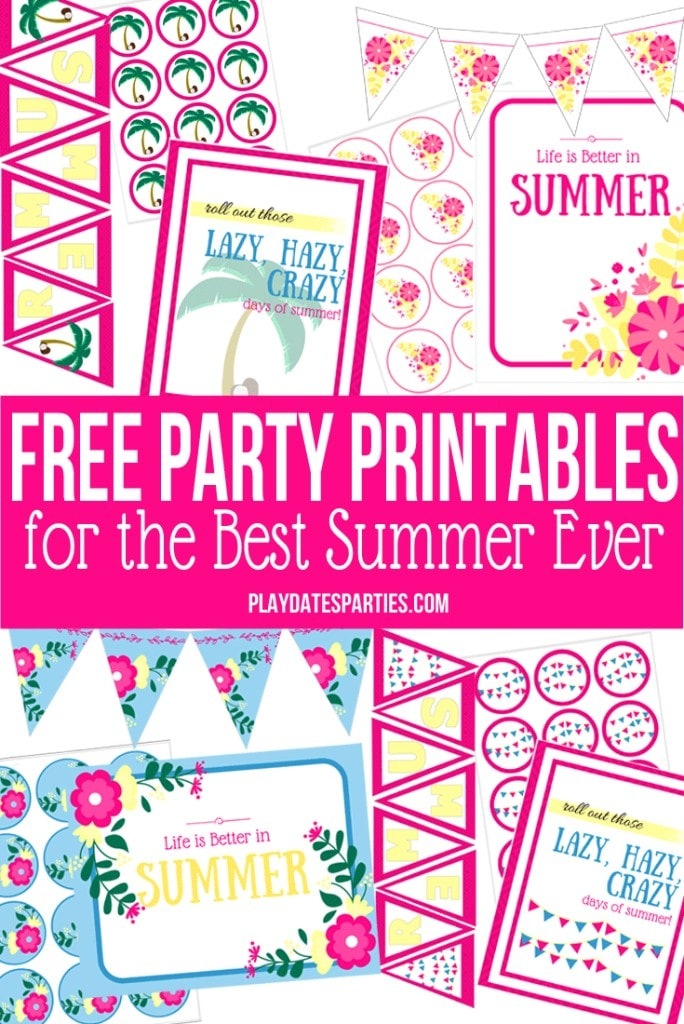 Free Summer Party Printables via @playdatesparty and the Spectactular Summer Blog Hop!