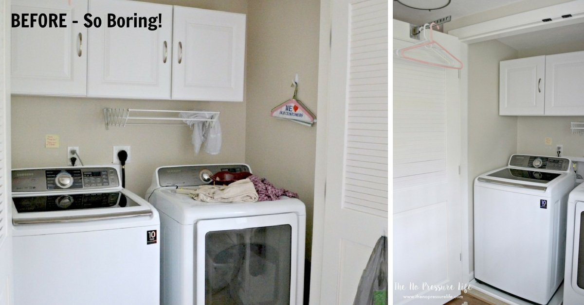 Laundry Closet Makeover on a budget