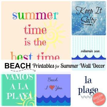 Summer Beach printable artwork