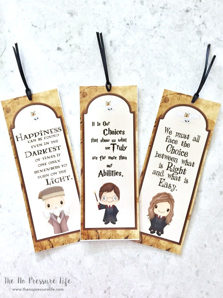 Harry Potter Party Favors - DIY Bookmarks