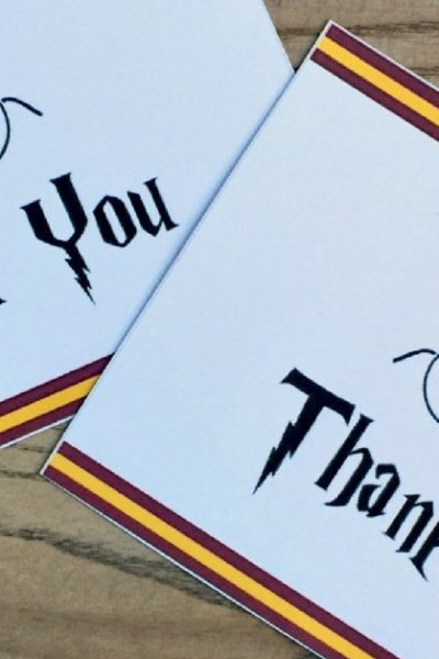 Harry Potter Party Favors Kids Will Love and free printable thank you notes
