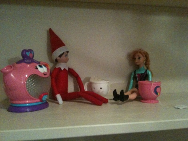 easy elf on the shelf ideas - tea party