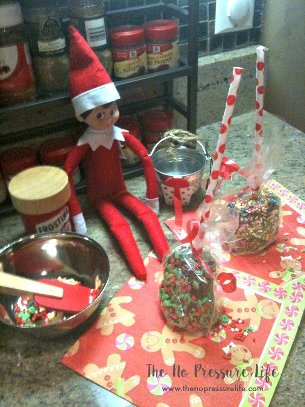 easy elf on the shelf ideas - making cake pops
