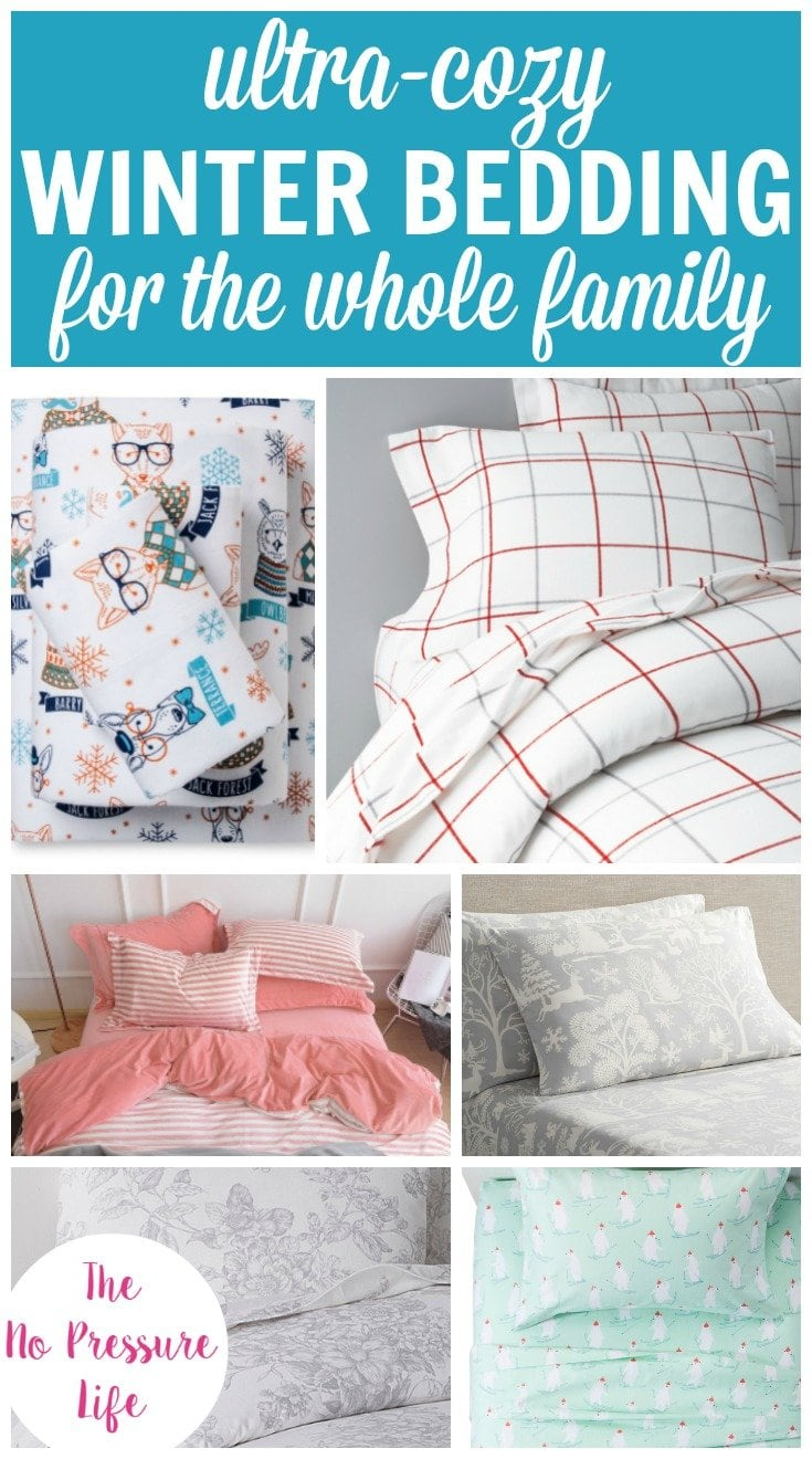 Cozy winter bedding for kids and adults. Cute and modern flannel sheet sets and duvet covers.