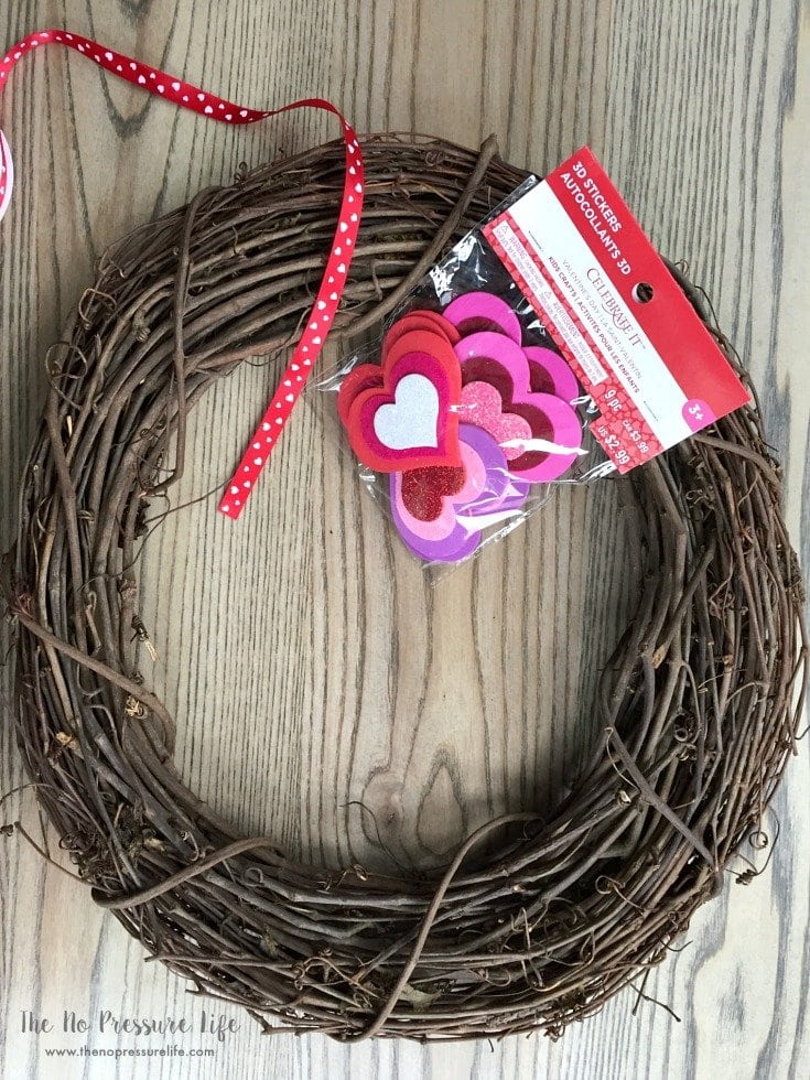Valentine's Day wreath supplies