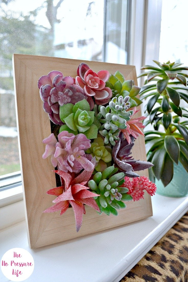 DIY fake succulent art