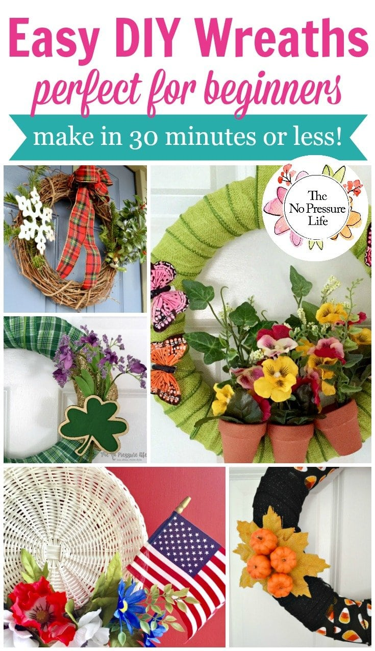 Easy Diy Wreath Ideas For Beginners To Make In 30 Minutes Or Less