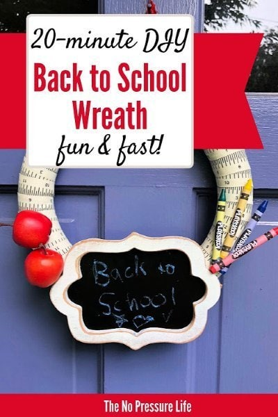 how to make a wreath for back to school