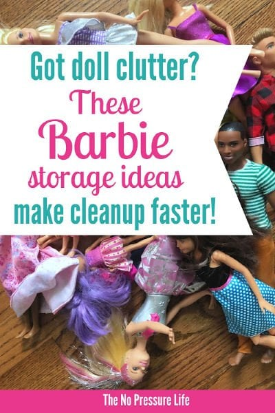 Barbie storage ideas and organization tips for Barbie dolls, shoes, accessories, and clothes