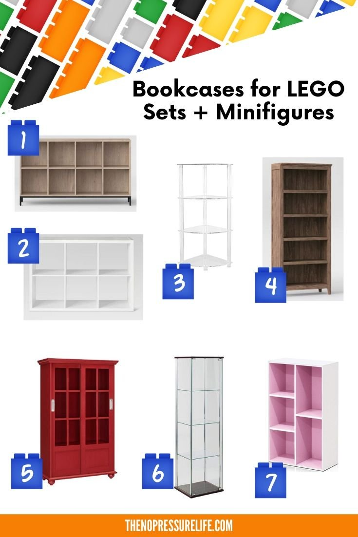 LEGO display shelves - 7 bookcases for LEGO sets and minifigures