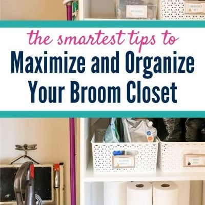 organized broom closet