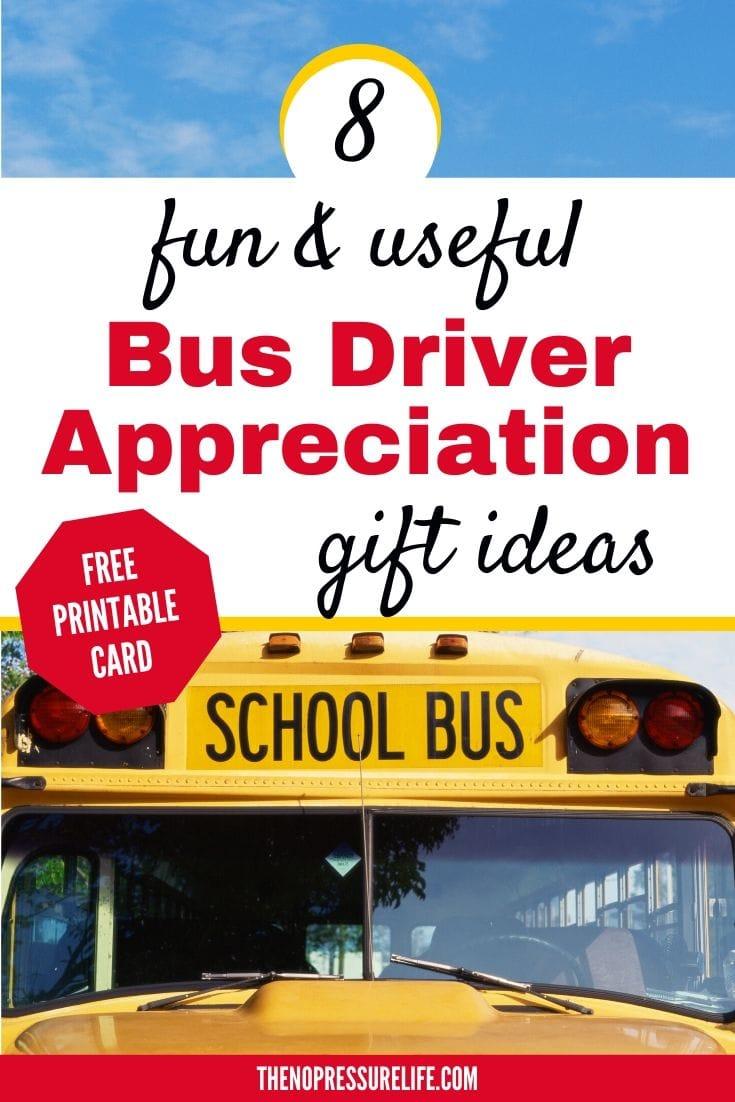 Bus driver appreciation gift ideas