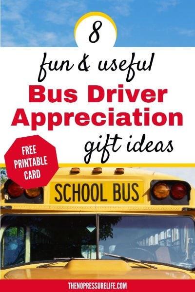 School Bus Driver Appreciation Gift Ideas