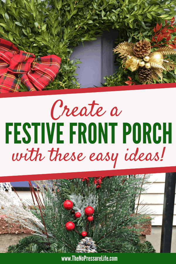 Simple Christmas Front Porch Ideas